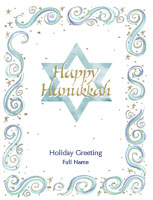 Hanukkah7 Greeting Card (4x55)